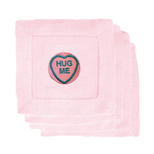 Love Heart Pink Drink Coasters - Initially London