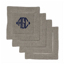 Beige Linen Coasters (set of 4) - Initially London