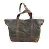 Waxed Canvas Tote - Initially London