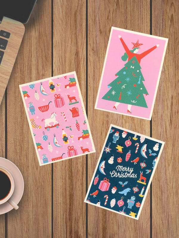 Very Merry Christmas Postcard Pack