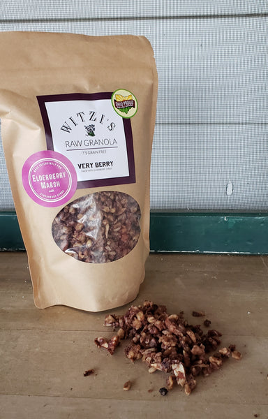 Witzi's Raw Granola Makes an Elderberry Soaked Version for Elderberry Marsh