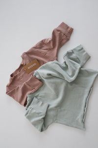 Classic mini Ribbed L/S Tee - Mauve