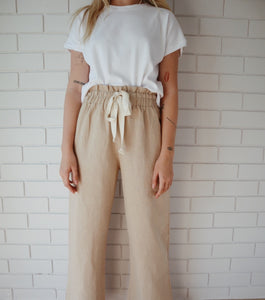 Style 01- Wide Leg Pant- Natural