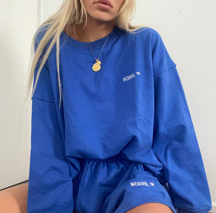 Signature Track Sweat Shirt - Royal Blue | Pre Order - Oct