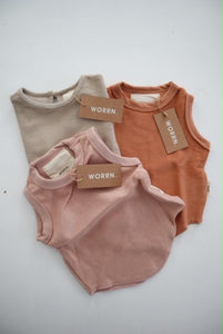 French terry singlet bundle 02 - 6-12 months