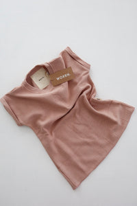 French Terry T-Shirt Dress- Musk