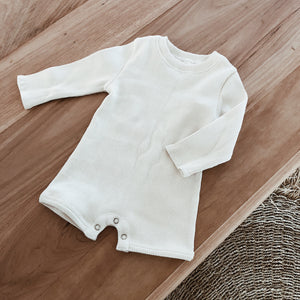 Ribbed Sunsuit - Oat