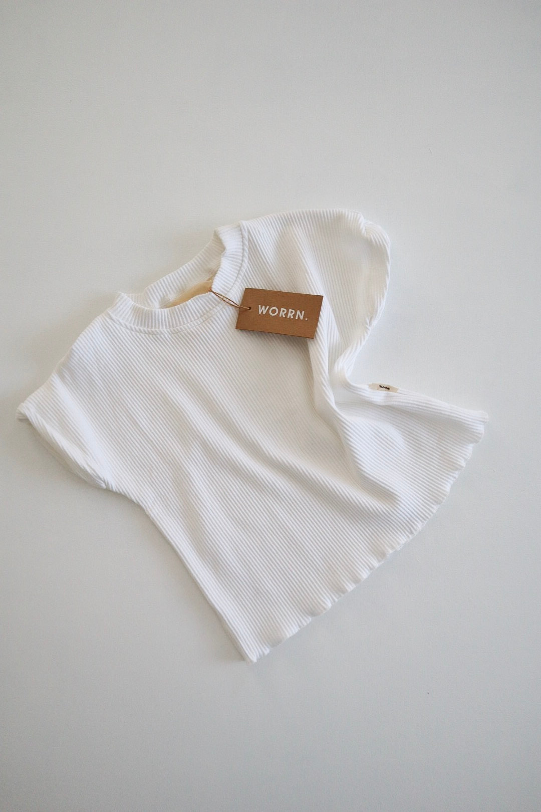 Thick ribbed tee- marshmallow