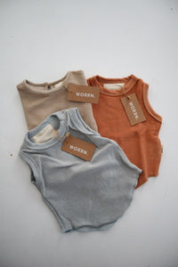 3-6 months French terry singlet bundle - 3-6 months