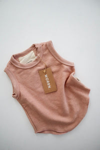 French terry scoop singlet - musk