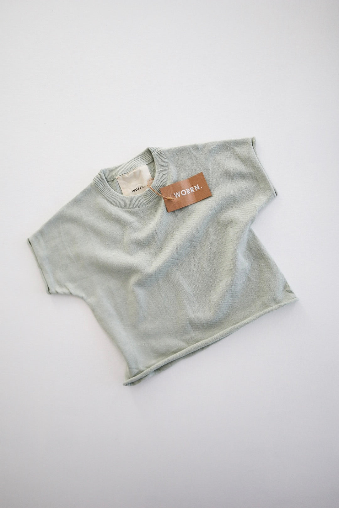 Cotton Knit Basic Tee- Mint