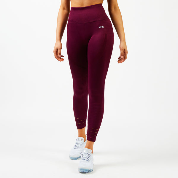 Balance Seamless Leggings - Burgundy