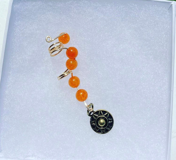 Orange Spiral loc jewel