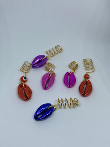 Metallic Cowries Loc Jewels
