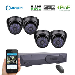 ANBVISION 4CH IP CCTV KIT 2.0MP DOME CAMERAS