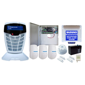WATCHGUARD HARD WIRED Complete 8 Zone Alarm System Expandable to 64 Monitored Zones