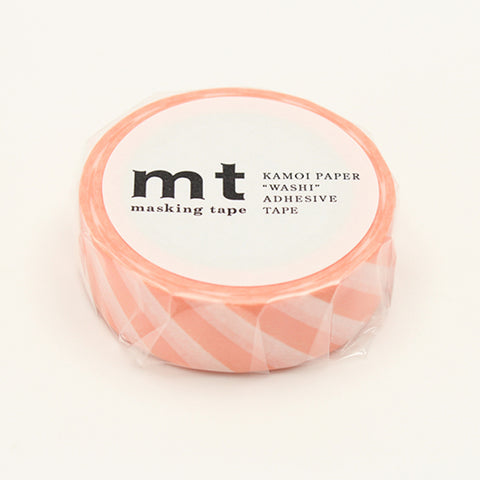 MT Masking Tape Stripe Salmon Pink