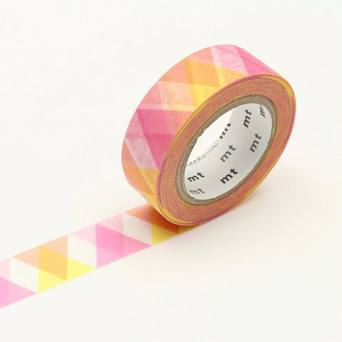 MT Masking Tape Triangle and Diamond Pink
