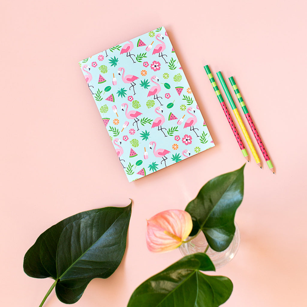 Cuaderno «Tropical Flamingos»