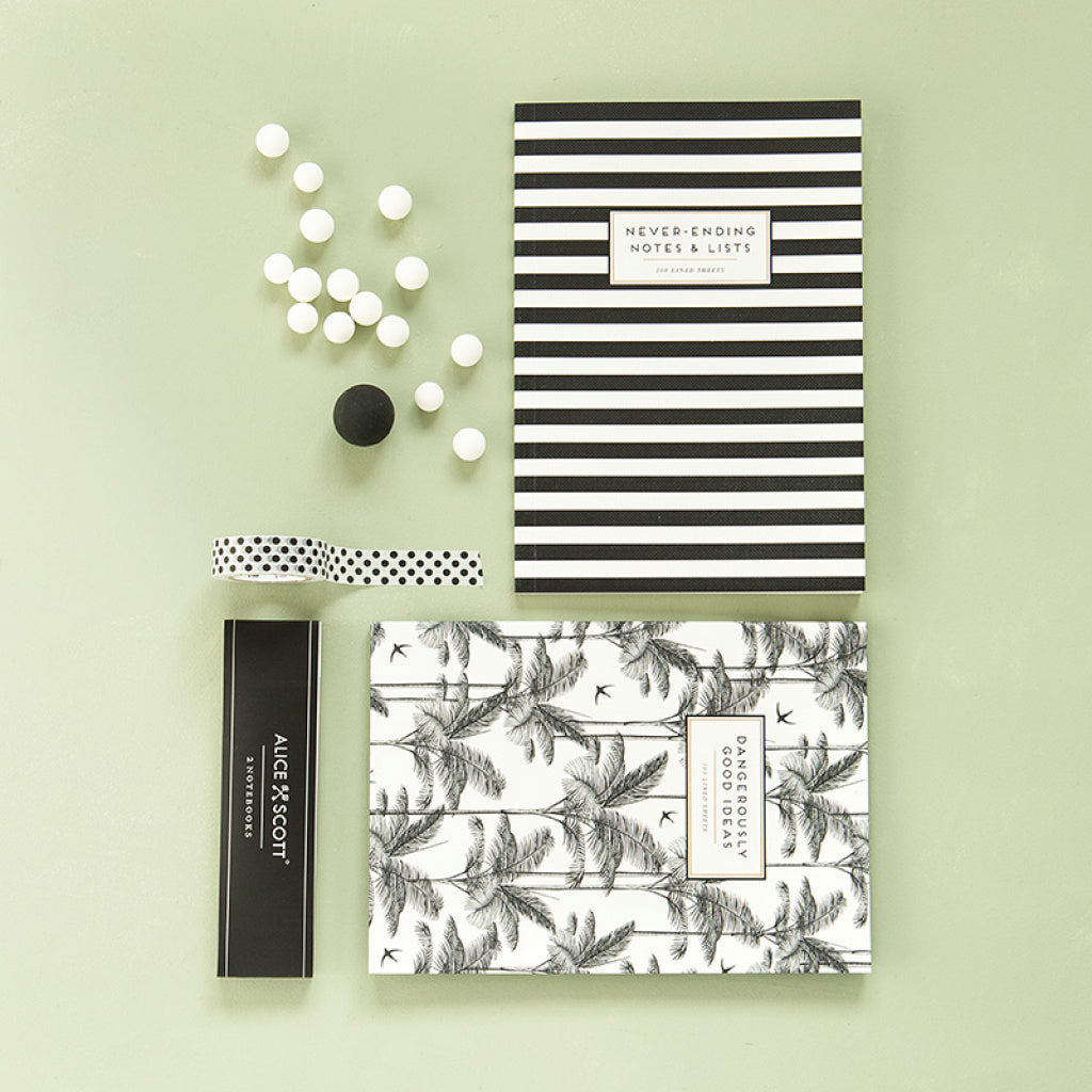 Set de 2 cuadernos Alice Scott