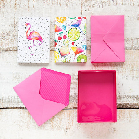 Set de tarjetas y sobres Totally Tropical