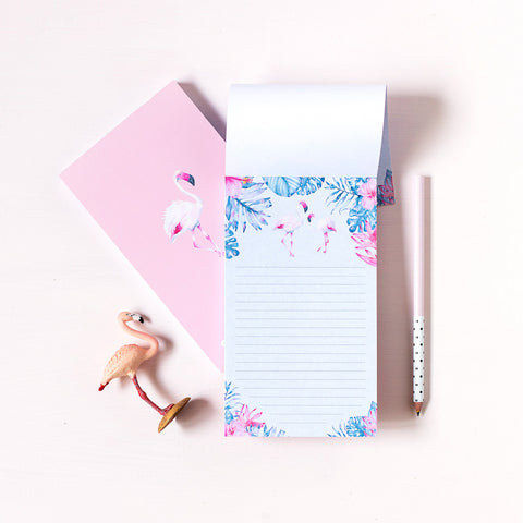 Notepad Flamingos