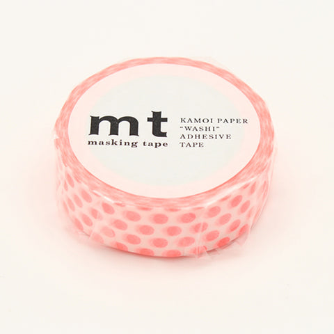 MT Masking Tape Dot Shocking Red