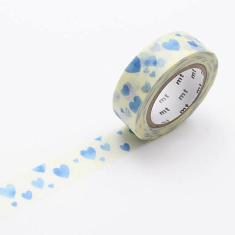 MT Masking Tape Heart Stamp Blue