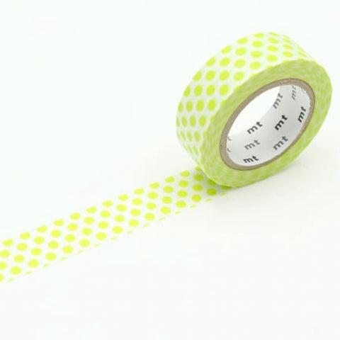 MT Masking Tape Dot Lime