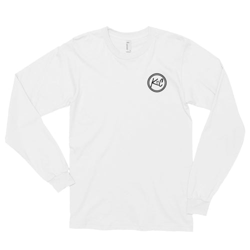 Mens Long sleeve t-shirt with back Logo
