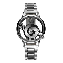 Casual Music Notation Stainless Watch