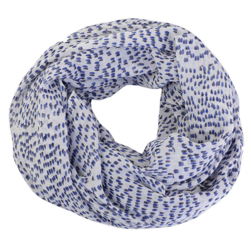 Shadow Dot Navy Scarf