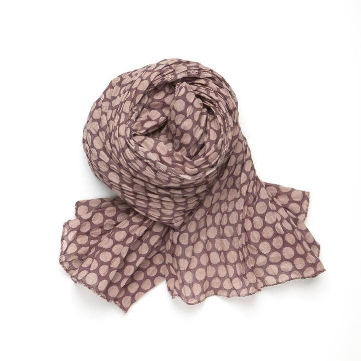 Polka-Chocolate Scarf