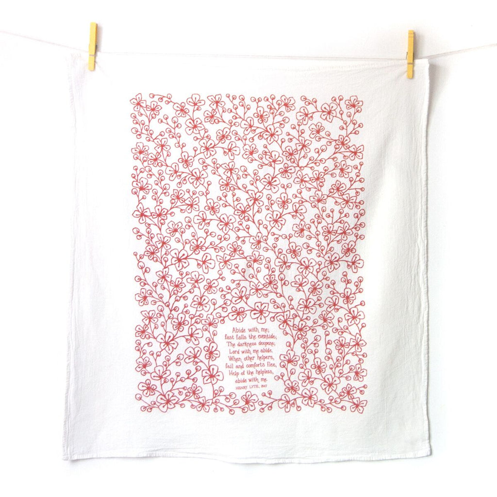 Abide with Me Hymn Tea Towel