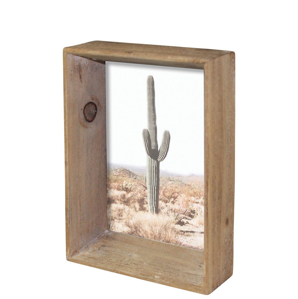 mika picture frame, wood, 4x6
