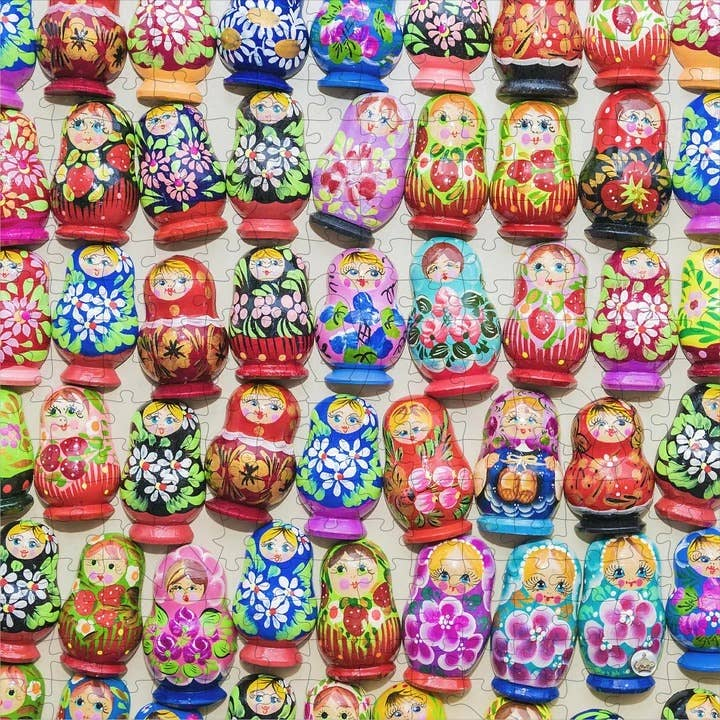 I Go To (250) Pieces Wooden Puzzle: Nesting Dolls