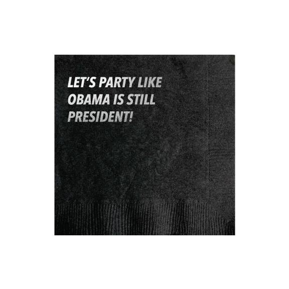 30211 Obama Party Cocktail Napkin