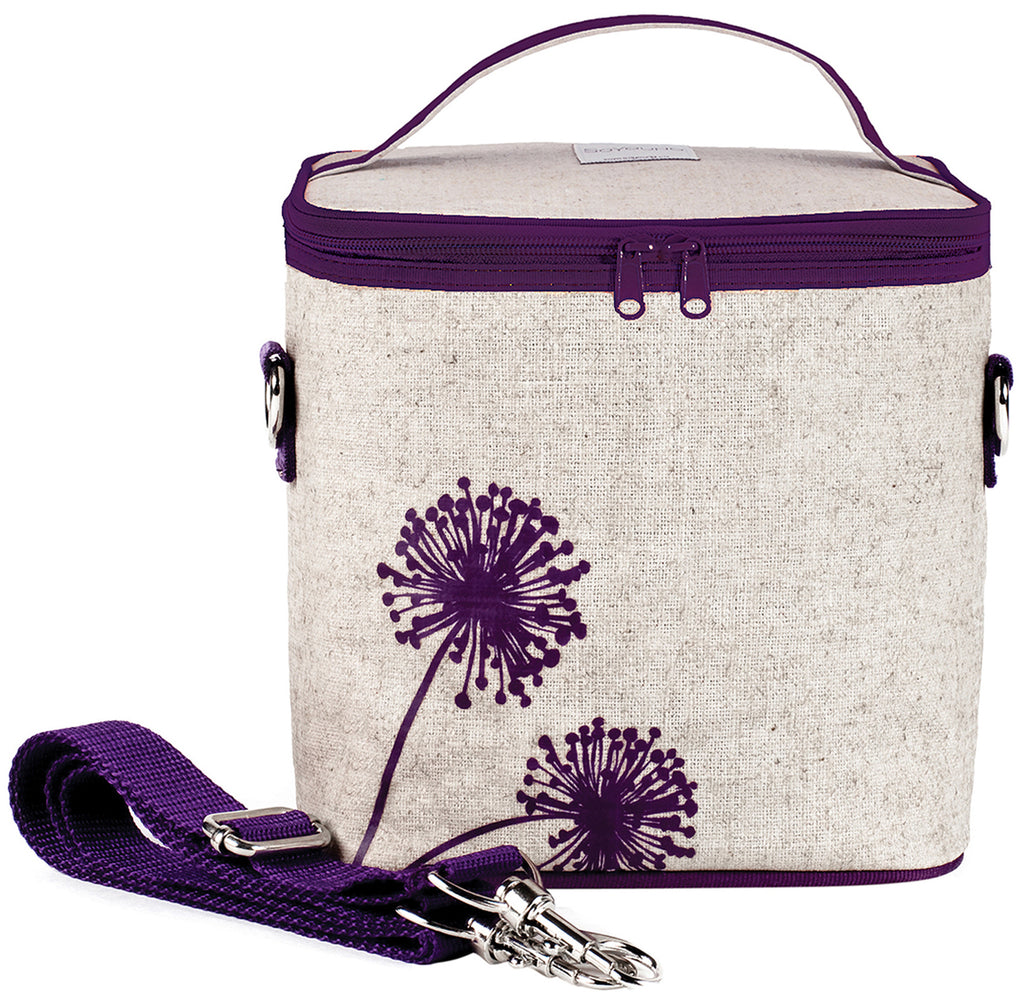lunch bag purple dandelion