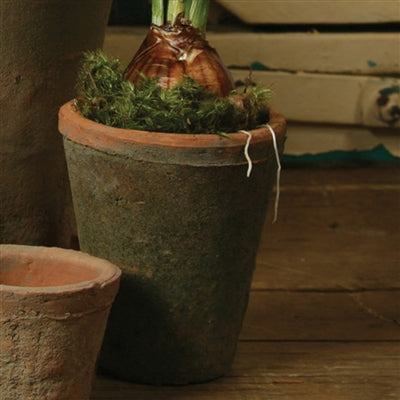 rustic terra cotta pot medium antique red