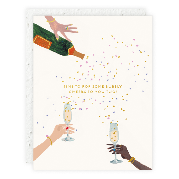 pop some bubbly card