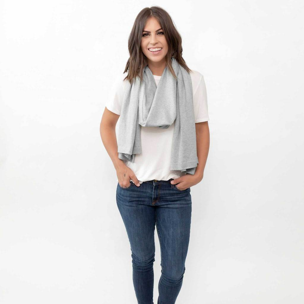 dreamsoft travel scarf light gray