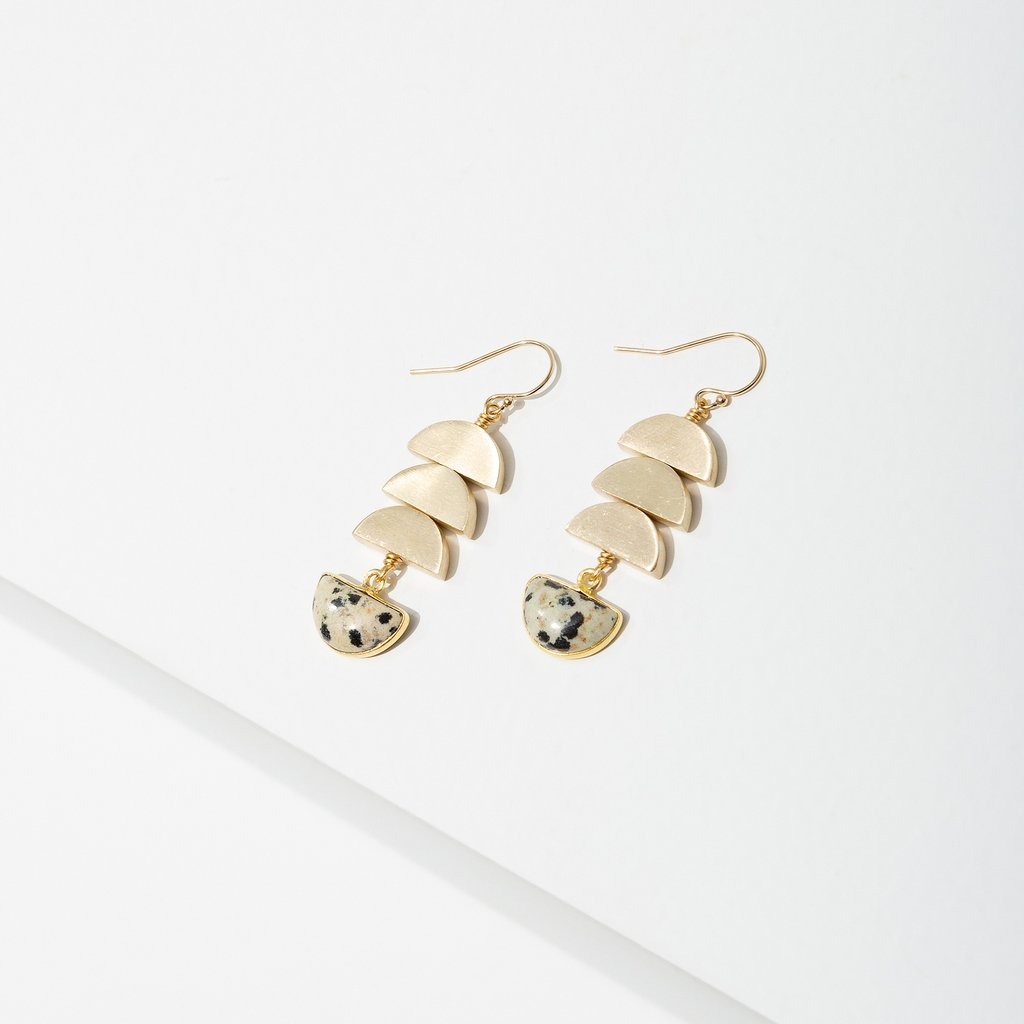 vera earrings in dalmation jasper