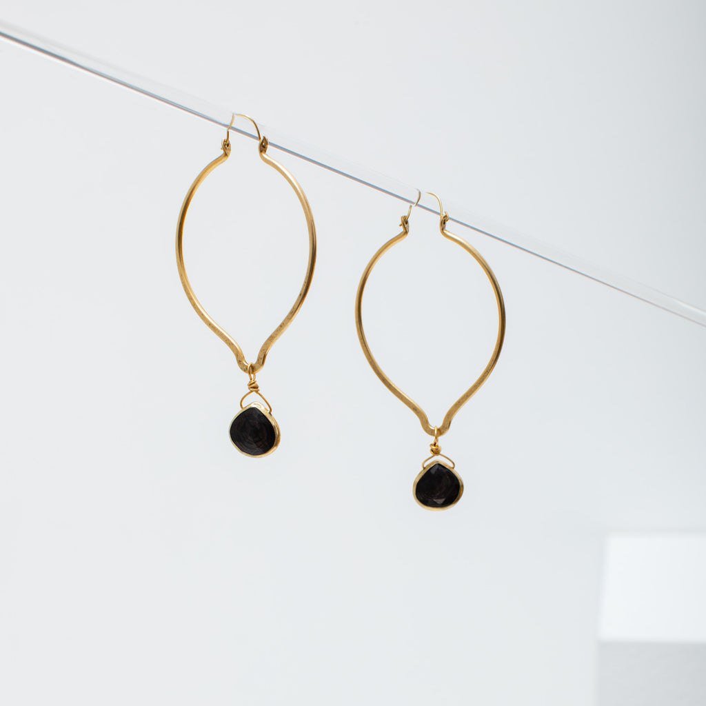 mindy earrings in smoky quartz
