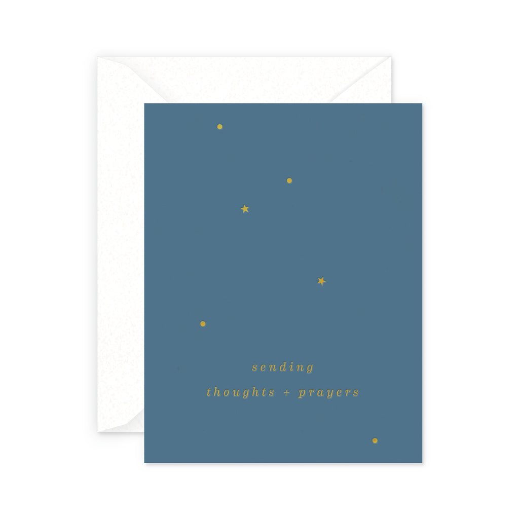 thoughts and prayers card
