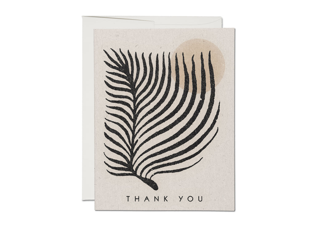 palm sun thank you card