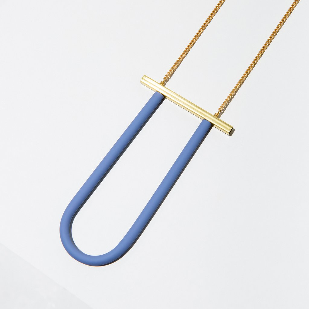 bauhaus necklace in blue