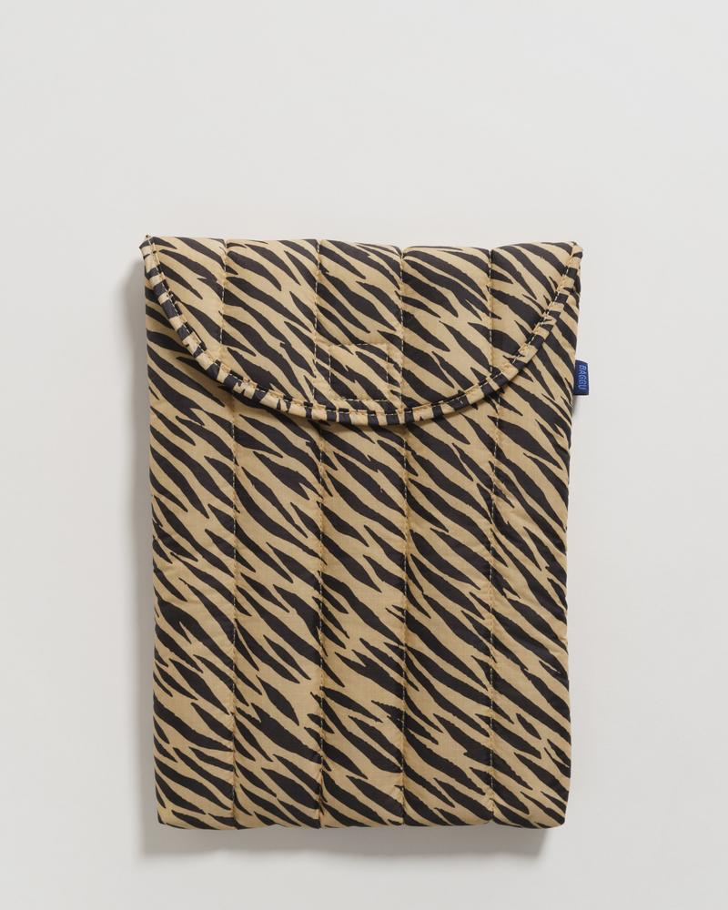 puffy laptop sleeve tiger stripe