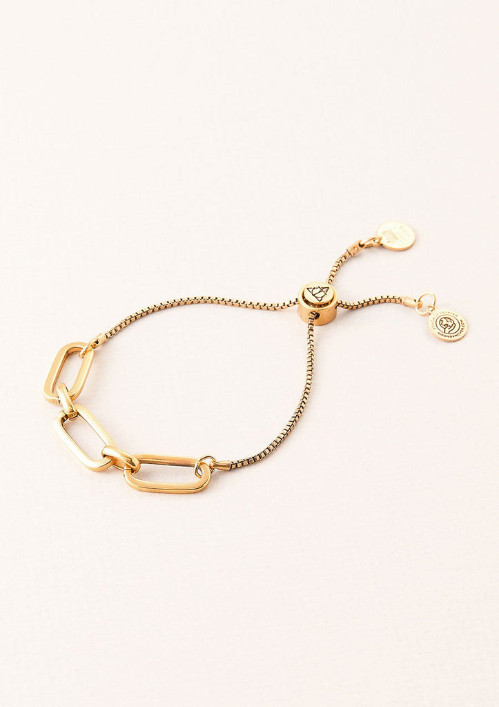 women's kinship adjustable bracelet in vintage gold