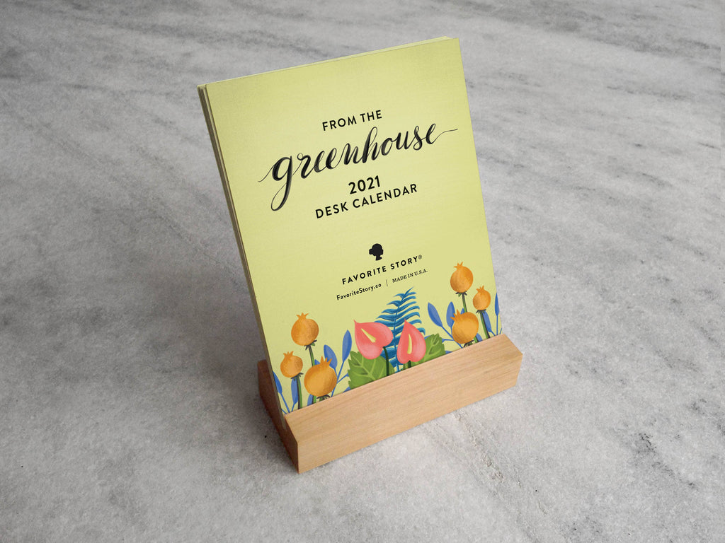 2021 greenhouse desk calendar