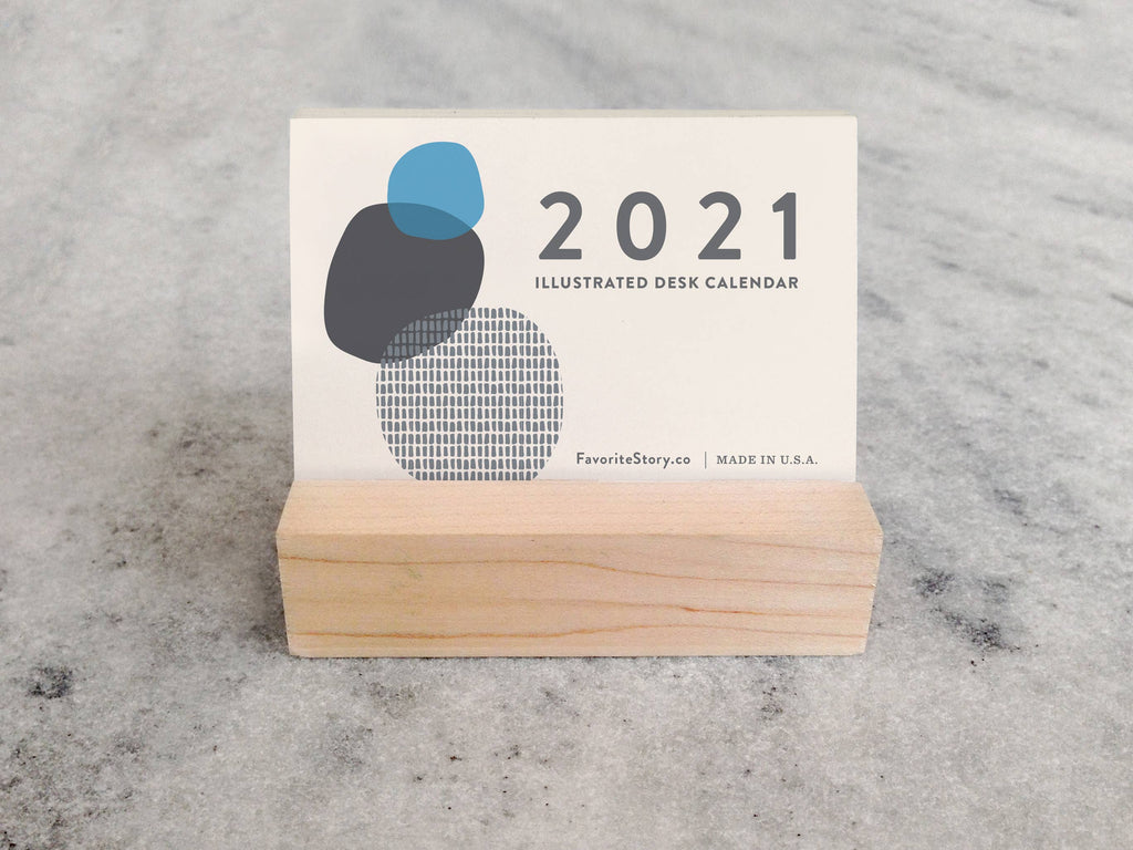 2021 abstract mini desk calendar